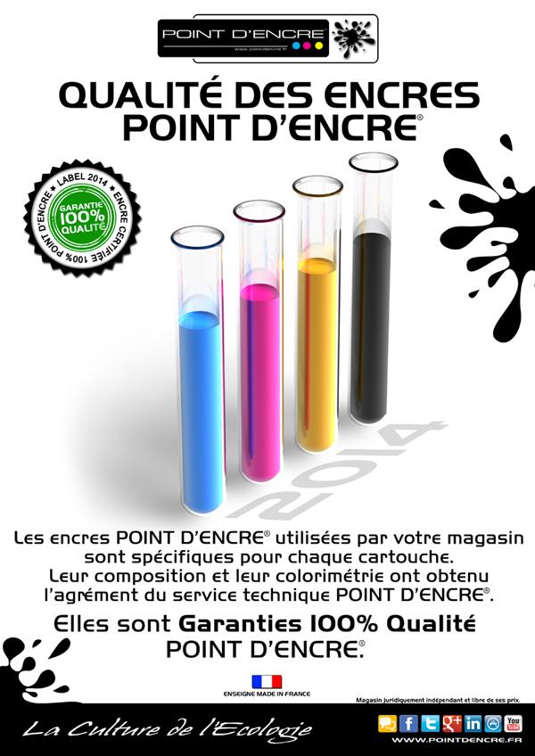 Certification 2014 pour les encres POINT D'ENCRE