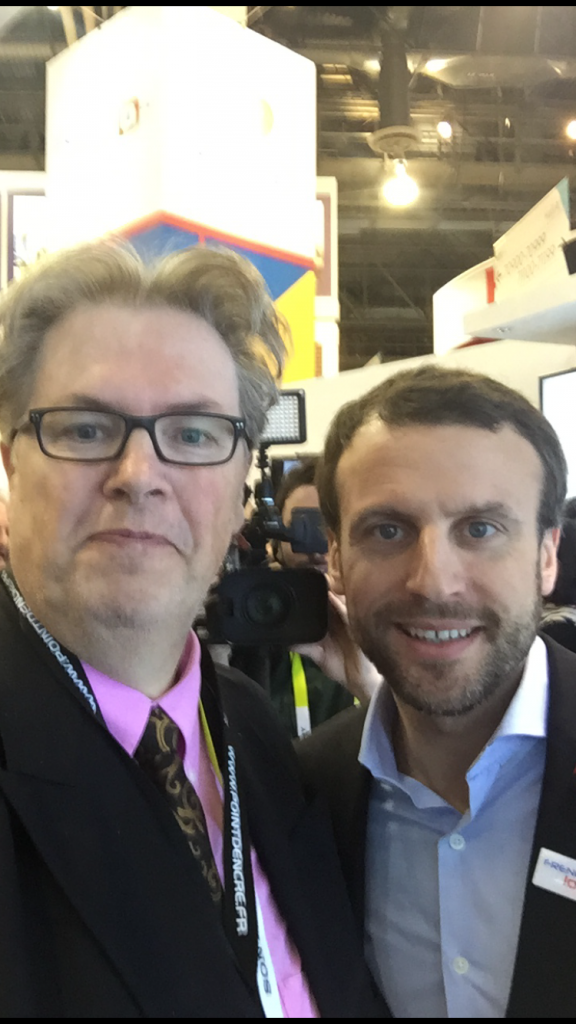 Eric crelier & Emmanuel Macron