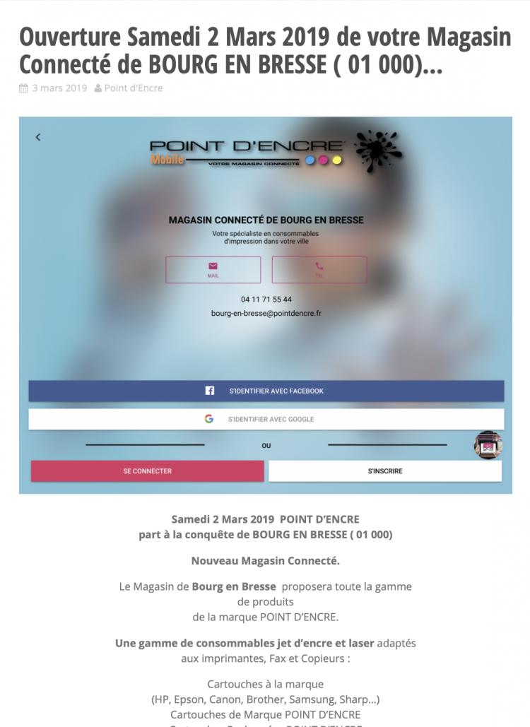 Ouverture Samedi 2 Mars 2019 de votre Magasin Connecté de BOURG EN BRESSE ( 01 000)...